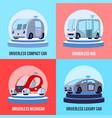 autonomous driverless vehicles concept vector image vector image