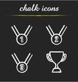 Award chalk icons set vector image