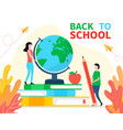 back to school banner or landing page in flat vector image vector image