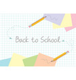 back to school concept template design with vector image vector image