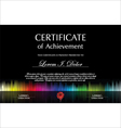 Black colorful certificate template vector image vector image