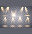 bright lighting with spotlights vector image vector image
