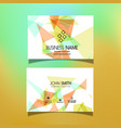 business card with a low poly design vector image vector image