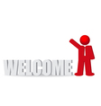 business man people and word welcome vector image