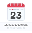 Calendar icon with the date vector image vector image