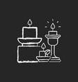 candles and candle holders chalk white icon vector image