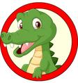 Cartoon crocodile mascot vector image vector image