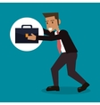 cartoon man business portfolio design vector image