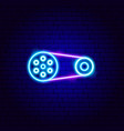 chain transmission neon sign vector image