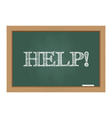 Chalkboard with help text vector image vector image