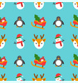 christmas seamless pattern theme for use vector image vector image