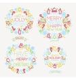 Christmas symbols color vector image vector image