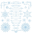 ChristmasNew year decor setWinter borders vector image vector image