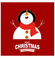 chrustnas card with snow man pattern vector image vector image