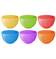 Colourful bowls vector image vector image