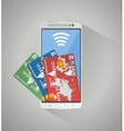 concept of mobile banking and online payment vector image vector image