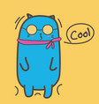 cool cat with sunglasses vector image