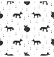 cute hipster tribal foxes seamless pattern vector image vector image