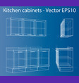 design and manufacture of kitchen furniture vector image vector image