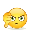 Dislike sign smiley emoticon vector image vector image