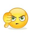Dislike sign smiley emoticon vector image
