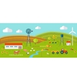 Eco Farm Conceptual in Flat Style Design vector image