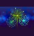 festive colorful fireworks on black background vector image vector image