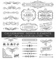 filigree flourishes design set vector image