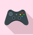 gamepad control icon flat style vector image vector image