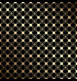 geometric black and gold seamless pattern with vector image vector image