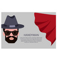 handyman poster with text vector image vector image