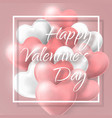 happy valentines day background flying bunch of vector image vector image