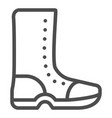 high boots line icon rubber shoes vector image