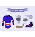 Hockey Sportswear Objects vector image vector image