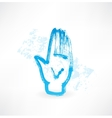 human palm grunge icon vector image