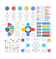 infographics diagrams infochart elements vector image vector image