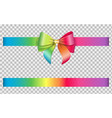 isolated bow and ribbon with rainbow colors vector image vector image