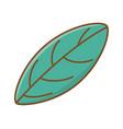 leaf tropical cartoon nature cartoon isolated vector image vector image