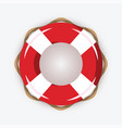 life buoy isolated on white background red and vector image vector image
