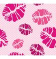 Lipstick Kiss shape print seamless pattern vector image vector image