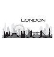 london skyline silhouette 2 vector image vector image