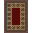 Luxury carpet with burgundy pattern vector image vector image