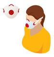 medical mask n95 and coronavirus protection vector image