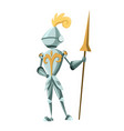 medieval kingdom character isolated knight in vector image vector image