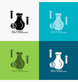 Money bag dollar growth stock icon over various