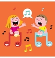 music kids singing vector image vector image