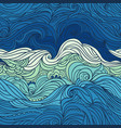 ocean waves vector image vector image