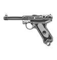 parabellum handgun design element for logo label vector image