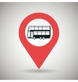 red signal of bus side isolated icon design vector image vector image