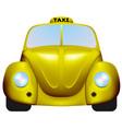 Retro taxi vector image vector image